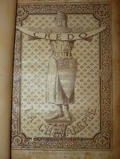 CAVALLERIA Cavalieri Duelli - Gautier: LA CHEVALERIE 1893 Welter Tavole Illustr.