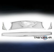 2010-2012 FORD MUSTANG GT V8 UPPER+BUMPER STAINLESS STEEL MESH GRILLE COMBO 4PCS