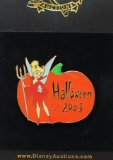 DISNEY AUCTIONS HALLOWEEN 2003 TINKER BELL DRESSED AS DEVIL PUMPKIN LE 100 PIN