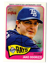 Jake Odorizzi 2014 Topps Heritage Real One Autograph Card Auto Red Ink /65