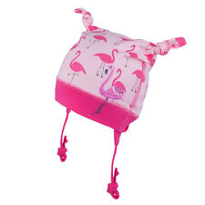 FLAMINGO 100% Cotton baby girls hat SPRING Tie up KIDS INFANT size 0 - 12 months