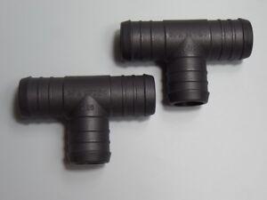 2 St 25x25x25mm Tuyau T Lien Refroidissement Réduction Tube Connecteur