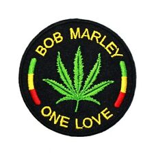 Bob Marley One Love Weed Hippie Raggae Music Jacket Jeans T-Shirt Iron on Patch