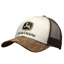 John Deere Hat, John Deere Cap, Trucker hat. 13080410   NWT. Brown Cork/ Ivory
