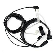 Retevis K-001 2 Pin Throat Covert Tube Earpiece Headset for TYT Kenwood BF Radio