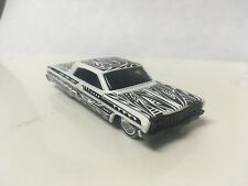 Hot Wheels CUSTOM W/REAL RIDERS White '64 Chevy Impala