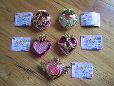 Set of 5 BANDAI Pretty Guardian Sailor Moon Henshin Compact Mirror Gashapon