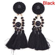 Orecchini pendenti con bohemien di nappe con frange lunghe lunghe e frangiate CH