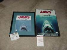 lot (2) Jaws movie photo/poster signed by Steven Spielberg &susan blacklinie Jsa