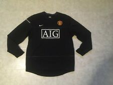 Nike Dri-Fit Manchester United Jersey Men Large AIG Black Long Sleeve 287621 010