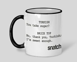 Snatch Tea I'm Sweet Enough Personalised Movie Film Quote Mug Gift