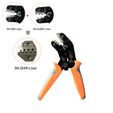 IWISS PH2.0/XH2.54/Dupont/KF2510/JST Terminal Ratchet Crimper 0.08-1mm2 AWG18-28