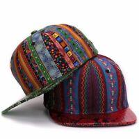 Snake Skin Baseball Cap Men Women Adjustable Hip Hop Hat Snapback Flat Brim Blue