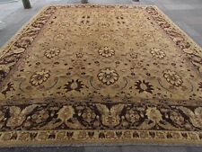 Traditional Hand Made Afghan Zigler Oriental Wool Beige Large Carpet 460x365cm