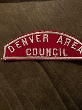 Boy Scout Vintage DENVER AREA COUNCIL Red & White Shoulder Strip Patch RWS CSP