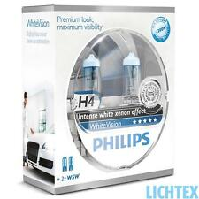 H4 + w5w Philips whitevision-intenso Xenon-efecto-duo-Pack - Box