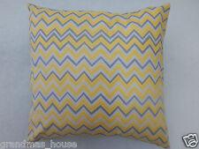 Grey Yellow Chevron Cushion Cover - 100% Cotton  40cm x 40cm Perfect Gift!!
