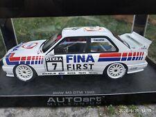 BMW M3 E30 DTM 1992 FINA CECOTTO #7 Autoart 1/18 en boite NO PAYPAL