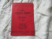 Onan industrial engine CK series operator's instruction manual