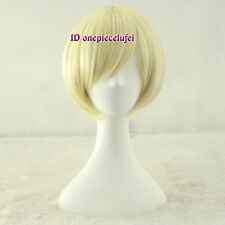 Homestuck Rose Lalonde pale blonde short bob cosplay wig with bangs +a wig cap