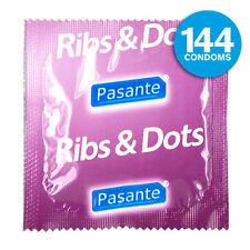144 Pasante Kondome mit Rippen und Noppen anatomisch Geformt