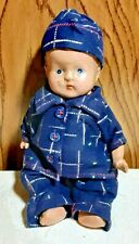 "Old Vintage Celluloid Baby BOY Doll about 9"" Nice Condition Dressed"
