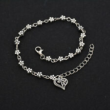 Pendant Anklets Adjustable Foot Chain Gift Elegant Hollow Out Heart Plum Blossom