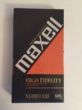 Maxell Black Magnetite Professional Grade T-120 Video Cassette VHS Tape New 6 HR
