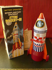 1$ Auction Rare Yonezawa Japan Tin Interplanetary Space ship Atom Rocket Robot