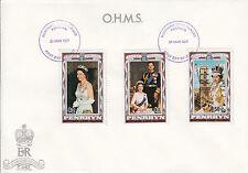 Penrhyn/Cook islandas FDC n. 89-91 Silver Jubilee of Regina Elisabetta II.