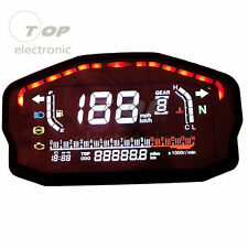 Universal Motorcycle Speedometer Odometer Digital LED Meter Gauge Accessories
