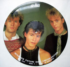 PICTURE DISC VINYL 33 TOURS A-HA - INTERVIEW