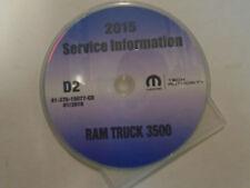 2015 Dodge RAM TRUCK 3500 Service Information Repair Service Shop Manual CD NEW