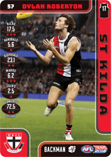 2018 TEAMCOACH ST KILDA DYLAN ROBERTON # 57 COMMON CARD AFL free post
