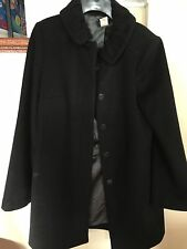 Jcrew Women's Long Taryn Wool Coat Black Size 6