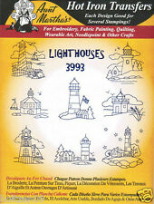 Lighthouses #3993 Aunt Martha's Hot Iron Embroidery Transfer Pattern