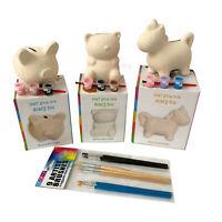 Kids Activity Art Craft Set Fun Play Paint Your Own Ceramic Money Savings Box A