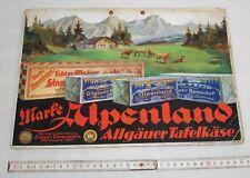 Marke Alpenland Käse - Pappschild um 1930