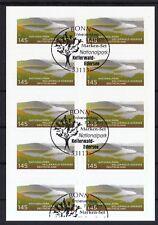 BRD 2011 Folienblatt 17 mit MiNr. 2863 ESST Bonn Nationalpark Kellerwald-Edersee