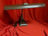 Vintage Antique Art Deco Adjustable Fluorescent Desk Lamp - WORKS