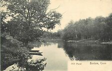 1907 Lithograph Postcard; Mill Pond, Bantam CT Litchfield County Posted