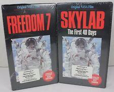 NEW Lot 2 Original NASA Videos VH Skylab First 40 Days & Freedom 7 Educational