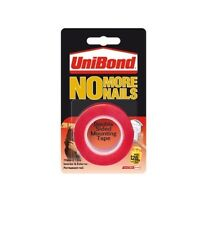 UniBond No More Nails Double Sided Tape RED 19mm x 1.5mm - Strong - Long Lasting