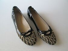 Eric Javits New York Black Patent Leather Flat Ballet Shoes Size 8 S