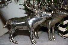 * Hirsch Silber versilbert Klassisch Sommer Tierfigur Dekoration