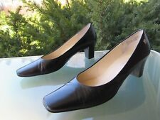 Etienne Aigner Signature Black Leather Heel Pumps, size 9
