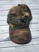 Reebok New England Patriots Camo Adjustable StrapBack Dad Hat Cap