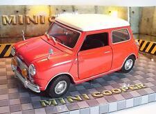 Motor Max Motormax 1/18 Nr.73113 Mini Cooper rot mit weissem Dach OVP #2465