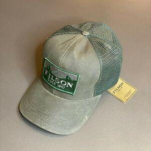 CC FILSON Logger Patch Mesh Back - Tin Cloth - Otter Green Cap Hat - Trucker NEW