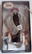 Gene Doll Outfit EMBASSY LUNCHEON Ashton Drake Black Dress Fur Wrap Hat COA